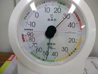 この室温と湿度は扇風機で涼しいレベル
